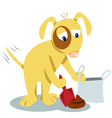 Even dogs know you have to clean it up vector image