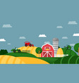 farm field agricultural business working tractor vector image