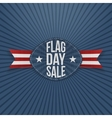 Flag Day Sale Label with Ribbon and Shadow vector image