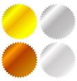 flat gold silver bronze badge award icons vector image