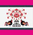 Folk Pattern With Turkeys vector image vector image