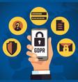 gdpr general data protection regulation internet vector image