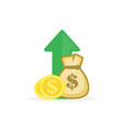 income increase vector image