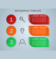 infographics 3 options templa vector image
