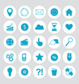 internet flat symbols for web site design isolated vector image vector image
