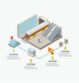 isometric metro subway infographics vector image