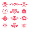 labels and badges for valentine day love symbols vector image vector image