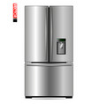 large double-wing refrigerator with metal coating vector image vector image