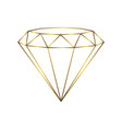luxury gold diamond isolated line logo for your vector image vector image