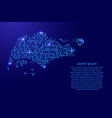 map singapore from printed board chip and radio vector image vector image