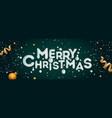 merry christmas banner horizontal christmas vector image vector image