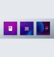 minimal squaree banner design colorful halftone vector image