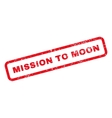Mission To Moon Text Rubber Stamp vector image vector image