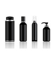 mock up realistic black and metal cosmetic vector image vector image