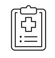 monochrome clipboard medicine questionnaire icon vector image vector image