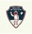 moon mission logo badge shirt t design print vector image