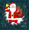 new year christmas card flyer invitation santa vector image vector image