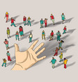 offer group people hand palm vector image vector image