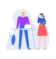 office colleagues work together conversation vector image vector image
