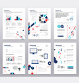 presentation booklet - set of modern vector image vector image
