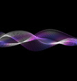 purple nano wave with dot particles and glowing vector image