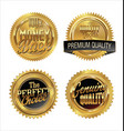 quality gold medals vector image vector image