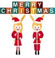 Rabbit Santa Claus vector image vector image