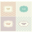 Retro Mono Line Frames with place for Text vector image