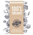 Retro organic food background vector image vector image