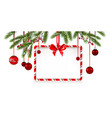 ribbon christmas tree banner vector image vector image