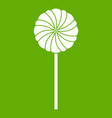 round candy icon green vector image vector image