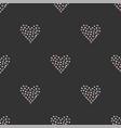 seamless heart pattern on dark hand drawn design vector image vector image