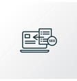 seo guide icon line symbol premium quality vector image vector image