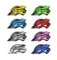 Set of Colorful Bike Helmets vector image vector image