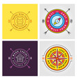 set summer camp badges concept for shirt or vector image vector image