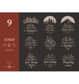 Set Vintage Cycling and Bicycle Sign and Badges vector image vector image