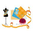 sewing workshop vector image