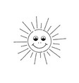smiling sun cartoon summer holiday sign happy vector image vector image