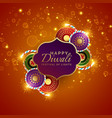 sparkling diwali festival sale background with vector image vector image