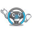 successful steering wheel in the character shape vector image vector image