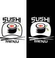Sushi menu card template vector image