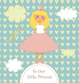 Sweet Little Princess Card vector image vector image