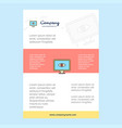 template layout for eye comany profile annual vector image