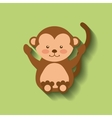 tender cute monkey card icon vector image vector image