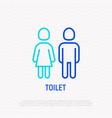 toilet sign wc thin line icon vector image vector image