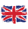 uk grunge flag vector image