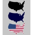 US maps vector image vector image