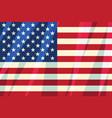 usa flag stars stripes american symbol freedom vector image
