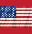 usa flag stars stripes american symbol of freedom vector image