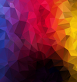 vertical rainbow spectrum polygon triangular vector image vector image